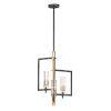 This item: Flambeau Black and Antique Brass Three-Light Pendant