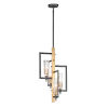 This item: Flambeau Black and Antique Brass Four-Light Pendant