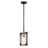 This item: Lodge Weathered Oak and Bronze One-Light Adjustable Mini Pendant