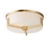 This item: Dart Satin Brass Three-Light Flush Mount