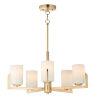 This item: Dart Satin Brass Five-Light Chandelier
