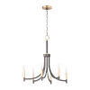 This item: Lyndon Bronze and Antique Brass Six-Light Chandelier