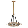 This item: Plank Weathered Wood and Antique Brass Six-Light Pendant