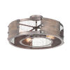 This item: Outland Barn Wood and Weathered Zinc Four-Light Pendant