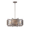 This item: Outland Barn Wood and Weathered Zinc Eight-Light Pendant