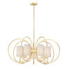 This item: Meridian Natural Aged Brass Seven-Light Chandelier