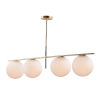 This item: Vesper Satin Brass and Black Eight-Inch Four-Light Adjustable Linear Pendant