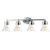 This item: Seafarer Polished Chrome 33-Inch Four-Light Bath Vanity