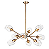 This item: Savvy Antique Brass and Black Nine-Light Adjustable Chandelier