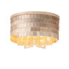 This item: Glamour Champagne and Gold Five-Light Flush Mount