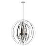 This item: Radial Polished Nickel and Black 31-Inch Five-Light Pendant