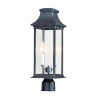 This item: Vicksburg Black Two-Light Outdoor Post Mount