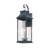 This item: Vicksburg Black Three-Light Outdoor Wall Mount