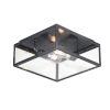 This item: Catalina Dark Bronze Two-Light Outdoor Flush Mount