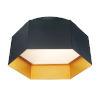 This item: Honeycomb Black and Gold One-Light LED Flush Mount