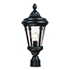 This item: Sentry Black One-Light Outdoor Post Mount