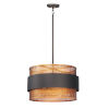 This item: Caspian Oil Rubbed Bronze and Antique Brass Three-Light Pendant