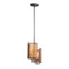 This item: Caspian Oil Rubbed Bronze and Antique Brass Two-Light Mini Pendant