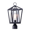 This item: Artisan Black Eight-Inch One-Light Outdoor Post Mount