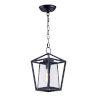 This item: Artisan Black Eight-Inch One-Light Adjustable Outdoor Hanging Lantern