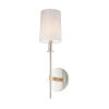 This item: Uptown Satin Brass and Polished Nickel One-Light Wall Sconce