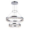 This item: Icycle Polished Chrome 24-Inch LED Adjustable Chandelier