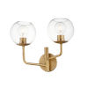 This item: Branch Natural Aged Brass Two-Light Vanity Light