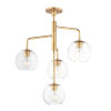 This item: Branch Natural Aged Brass Four-Light Pendant