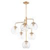 This item: Branch Natural Aged Brass Six-Light Chandelier