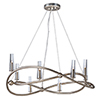 This item: Entwine Golden Silver 36-Inch Eight-Light Chandelier