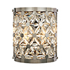 This item: Cassiopeia Polished Nickel Nine-Inch Two-Light Wall Sconce