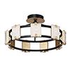 This item: Radiant Black and Gold Leaf Nine-Light Integrated LED Flush Mount