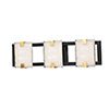 This item: Radiant Black and Gold Leaf Three-Light Integrated LED ADA Wall Sconce