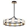 This item: Radiant Black and Gold Leaf 12-Light Integrated LED Adjustable Chandelier