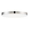 This item: Trim Polished Chrome One-Light ADA LED Flush Mount with Polycarbonate Shade 3000 Kelvin 1280 Lumens