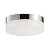 This item: Illuminaire Ii Polished Chrome One-Light LED Flush Mount with Acrylic Shade 3000 Kelvin 920 Lumens
