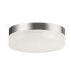 This item: Illuminaire Ii Satin Nickel One-Light LED Flush Mount with Acrylic Shade 3000 Kelvin
