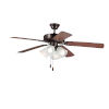 This item: Basic-Max Oil Rubbed Bronze and Walnut and Pecan Four-Light LED Indoor Ceiling Fan