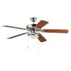 This item: Basic-Max 52 Inch Ceiling Fan with LED Light Satin Nickel, Walnut and Pecan Blades