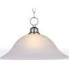 This item: Essentials Satin Nickel 16-Inch One-Light Adjustable Pendant