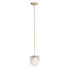 This item: Finn Satin Brass and Brushed Platinum One-Light Mini Pendant