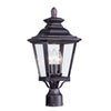 This item: Knoxville Bronze Nine-Inch Three-Light Outdoor Post