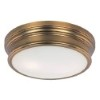 This item: Fairmont Natural Aged Brass Two-Light Flush Mount