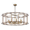 This item: Helix Bronze Fusion Eight-Light Chandelier