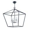 This item: Abode Textured Black and Nickel 25-Inch Four-Light Lantern Pendant