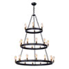 This item: Black and Natural Aged Brass 30-Light Chandelier