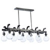 This item: Kinetic LED Dark Satin Nickel 10-Light LED Pendant
