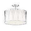 This item: Regal Terrace Polished Nickel LED Semi-Flush