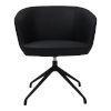 This item: Gibson Black Swivel Arm Chair