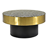This item: Optic Brass Geometric Patterned Round Coffee Table